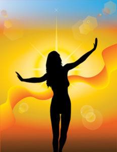 Girl silhouette sunshine2