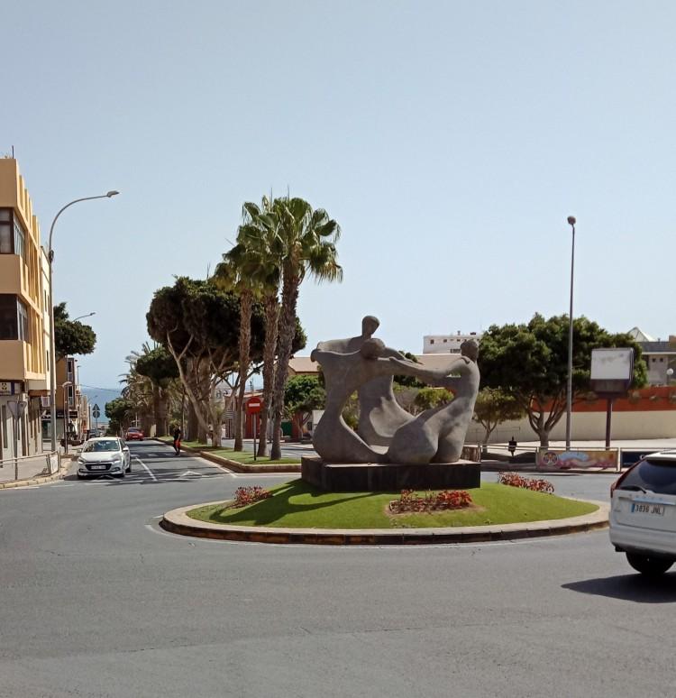Three Bums Roundabout or Rotonda de las Culonas Puerto del Rosario Fuerteventura